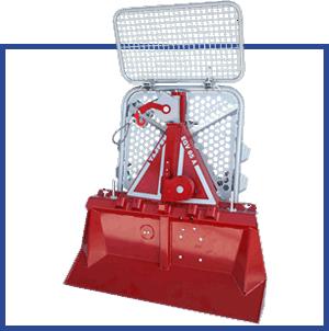 matériel jardinage professionnel - mini pelle rouge - distributeur matériel agricole