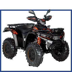 quad noir hytrack - achat matériel forestier - distributeur matériel agricole