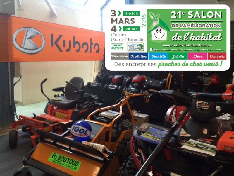 Bouyoud - specialiste motoculture isere expose au salon de l'habitat saint-marcellin 2018 - tondeuse - micro tracteur